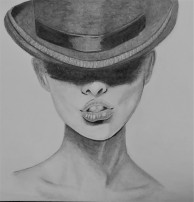 ladyinbowlerhat
